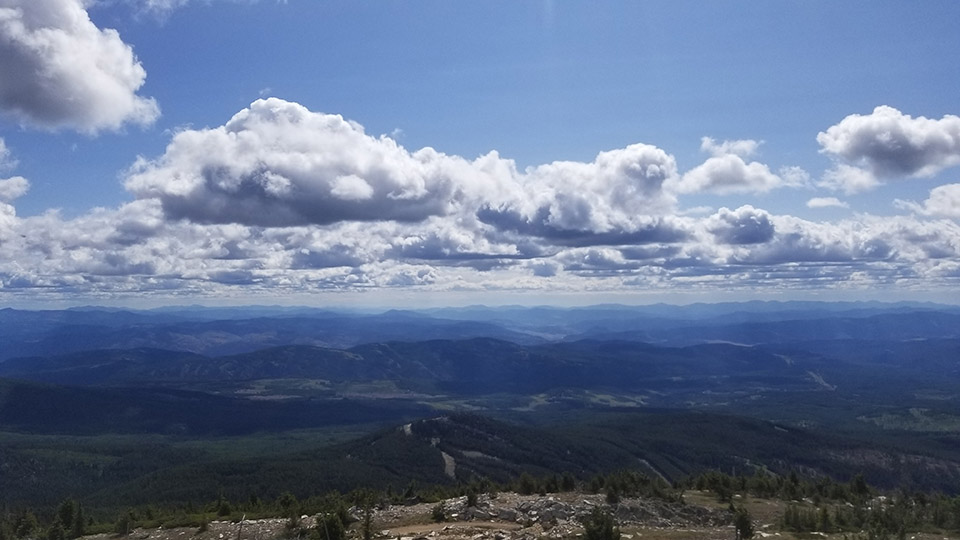The View from Mt Baldy Summit