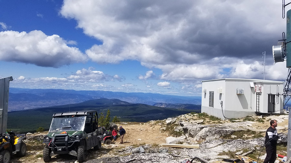 Work Site location on Mt. Baldy & Installing coax in the repeater shack